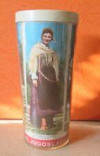 Vintage  National Costume  Yugoslavia Plastic Cup Slovenia, Montenegro, Glamoc..
