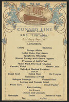RMS Lusitania Cunard Line Menu Reprint On Original Period 1915 Paper *180