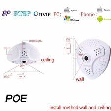 360° Panoramic FishEye POE 1080P IP Camera IP50 Onvif Security CCTV Network P2P