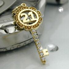 Anhänger Schlüssel mit Zahl 21 9kt Gold Damen 4312370gn