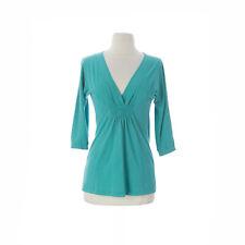 VELVET by Graham & Spencer Women's Emerald 3/4 Sleeve V-Neck Top S $114 NEW