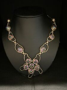 Mystic Topaz Gemstone Handmade Jewelry 925 Solid Sterling Silver Necklace