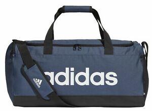 Adidas Fitness Bag Sport Bag Essentials Logo Duffelbag Medium Blue White