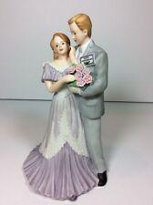 1997 Enesco Happy Anniversary Bride & Groom Musical Figurine Wedding Marriage