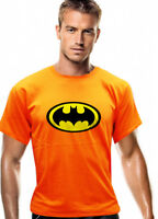 Fashion Batman Logo Graphic Tee Men's Crew Neck T-shirt Short Sleeve 06