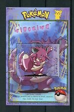 Dominica 2001 MNH Pokemon #34 Nidoking Series 1 OVPT 1v S/S Stamps