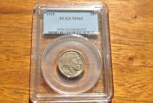 1925 Buffalo Nickel MS63 PCGS - Sharp Strike - Stunning Coin