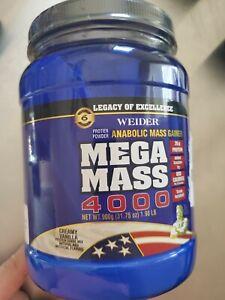 Weider Mega Mass 2000 Anabolic Weight Gainer Vanilla  Exp 10/28/2021protein
