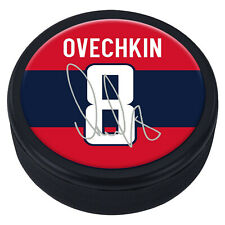 Alex Ovechkin #8 Washington Capitals Souvenir Player Puck w/Replica Signature