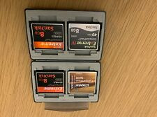 4 X Compact Flash cards 1x16GB and 3x8GB in GEPE Hard Case