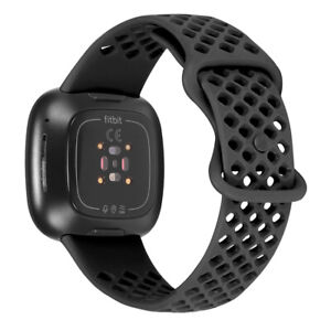 For Fitbit Versa 3/Sense Wrist band Breathable Sports Silicone Strap Watch Bands