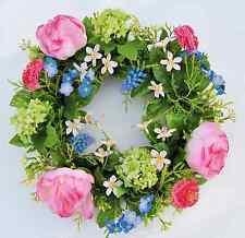 Türkranz Dekokranz Frühlingskranz, Blütenkranz Peonien, Ø 30 cm