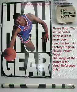 NITF! Vintage OLD STOCK ☆ NIKE Poster ☆ HIGH GEAR ☆ Kenny Anderson NJ Nets