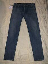 $850 BALMAIN PARIS Blue Denim Biker Jeans Stretch-Tapered Men's Size 32 NEW TAGS