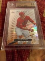 2013 TOPPS FINEST MIKE TROUT ROOKIE ORANGE REFRACTOR #1 BGS 9.5 GEM MINT RARE🔥