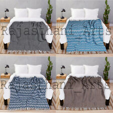 Indian Throw Blanket Cotton Quilted Soft For Sofa Bed Home Décor Blanket