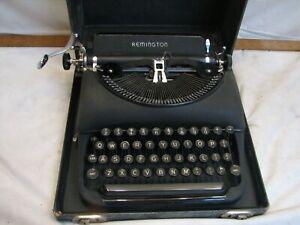 Antique Remington Portable Typewriter & Case Model 5 1941 Standard