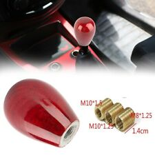 Red Real Carbon Fiber Car Manual Transmission Gear Shift Knob Shifter Universal