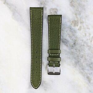 Genuine Goatskin Leather Watch Strap - Green - 18mm/19mm/20mm