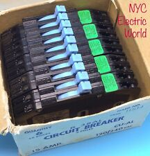 (1) New Circuit Breaker Zinsco  15 Amp Two 1 Pole 120/240V Tandem RC38-15