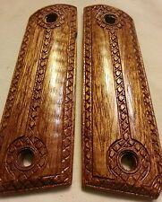 "Full Size 1911 Mahogany Wood Grips  ""The Gentleman """