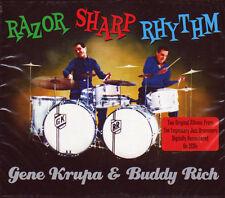 RAZOR SHARP RHYTHM - GENE KRUPA & BUDDY RICH  (NEW SEALED 2CD)