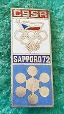 CZECHOSLOVAK OLYMPICS COMMITTEE OLYMPICS SAPPORO OLD PIN BADGE