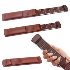 Pocket Guitar Practice Gadget 6 Fret Strings Model Tool For Beginner Brown