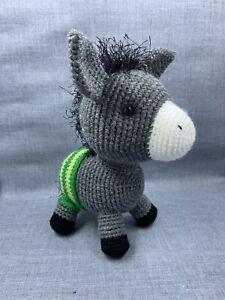 Crocheted Donkey Amigurumi Stuffed Animal Toy - Handmade