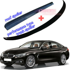 Painted BMW F36 4er gran coupe roof spoiler+ performance type trunk spoiler ◎