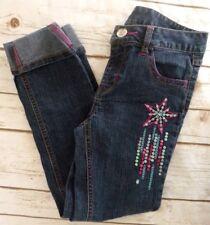 Hannah Montana Girls Denim Jeans Cuffed Size 8