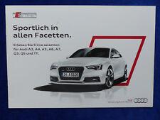 Audi S line selection - A3 A4 A6 A7 Q3 Q5 TT MJ 2014 - Prospekt Brochure 10.2013