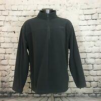 Cabela's Men's Fleece Pullover Sweatshirt 1/2 Zip Mock Neck Solid Gray Size 2XL
