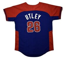 Majestic Youth MLB Philadelphia Phillies Chase Utley Baseball Jersey NWT S, M, L