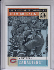 17/18 OPC Montreal Canadiens Retro Team Checklist card #576