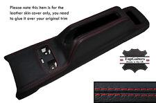 Rojo Stitch Centro Consola Freno De Mano Trim Skin Tapa se ajusta Honda Crx 89-91