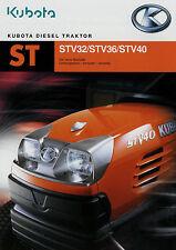 Prospekt Kubota diesel tractor 2008 STV 32 36 40 folleto país máquina anejo