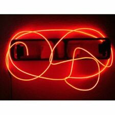 Red 9Ft Neon Light Glow EL Wire Rope Tube Car Bike Bar Dance Party Transparent