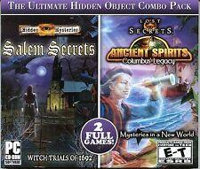 Hidden Mysteries SALEM SECRETS WITCH TRIALS Hidden Object  2 PACK PC Game NEW