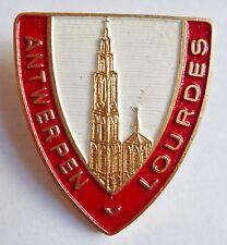 Insigne Religieux Badge NEDERLAND PAYS BAS ANTWERPEN LOURDES CATHOLIC