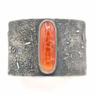 IgnisBorealis Snakeskin Agate Sterling Cuff Bracelet $480 Handmade