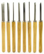 8pc Wood Lathe Chisel Set Turning Tools Woodworking Parting Spear Gouge Skew