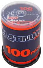 100 Platinum Rohlinge DVD-R 4,7GB 16x Spindel