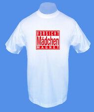 Männer Herren T-Shirt Vorsicht Mädchenmagnet move2be S M L XL weiß bedruckt