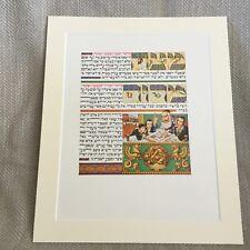 1950 Jüdische Aufdruck Arthur Szyk Haggada Judaica Kunstwerk Hebräisch Text