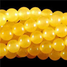 "Wholesale Yellow Topaz Gemstones Round Loose Beads 15"" 6mm 8mm"