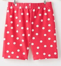 Nuevo Hanna Andersson Niña Rojo con Lunares Pantalones Cortos de Bici 150cm 12