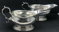 More details for a good quality pair of silver sauceboats london 1737