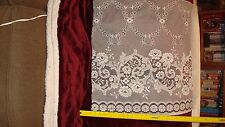 """Lace Curtain Fabric 5 3/4 yards X 26"""" wide  LAST piece"""