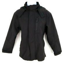 Snozu Thick Windbreaker Jacket with Zip-Off Hood Kids Unisex Sz M (10/12) Black